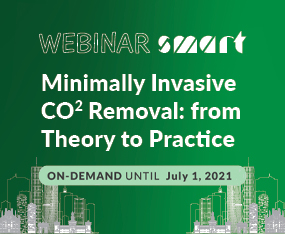 WEBINAR SMART<br>Minimally Invasive CO2 Removal: From Theory to Practice<br>On Demand Until July 1, 2021