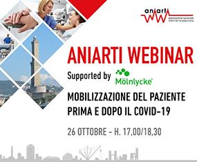 ANIARTI WEBINAR<br>Mobilizzazione del Paziente Prima e Dopo il COVID-19<br>On Demand fino al 30 settembre 2021