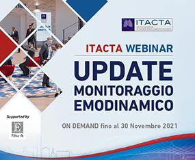 ITACTA WEBINAR<br>Update Monitoraggio Emodinamico<br>On Demand fino al 30 novembre 2021