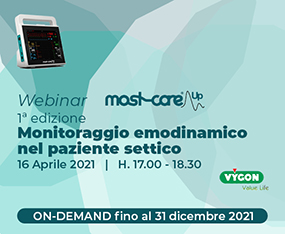WEBINAR<br>MostCare Up 1a Edizione - Monitoraggio Emodinamico nel Paziente Settico<br>On Demand fino al 31 dicembre 2021