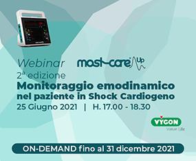 WEBINAR<br>MostCare Up 2a Edizione - Monitoraggio Emodinamico nel Paziente in Shock Cardiogeno<br>On Demand fino al 31 dicembre 2021