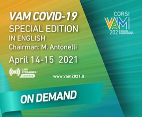 Corsi VAM 2021<br>VAM COVID -19 Special Edition<br>On Demand fino al 21 marzo 2022